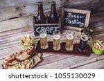 american craft beer | Shutterstock . vector #1055130029