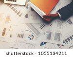 businessman hand with modern... | Shutterstock . vector #1055134211