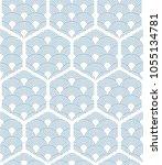 japanese pattern vector. blue... | Shutterstock .eps vector #1055134781