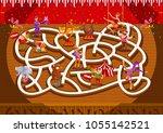fun educational cute circus... | Shutterstock .eps vector #1055142521