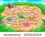 fun educational prehistoric...   Shutterstock .eps vector #1055142524