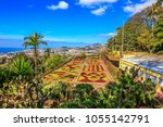 Beautiful panorama of the famous botanical garden in Funchal, Madeira island, Portugal
