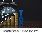 time to pay tax concept. tax... | Shutterstock . vector #1055154194