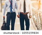 two asian business men are...   Shutterstock . vector #1055159834