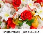 bunch of flowers | Shutterstock . vector #1055160515
