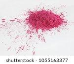 pink mica pigment powder   Shutterstock . vector #1055163377