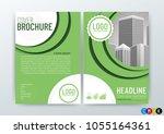 business brochure  flyer design ... | Shutterstock .eps vector #1055164361