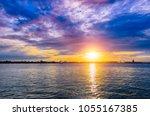 sunset in san diego  california ... | Shutterstock . vector #1055167385