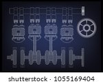 machine building drawing. the... | Shutterstock .eps vector #1055169404