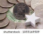 a quarter of new mexico ... | Shutterstock . vector #1055169509