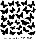 Butterfly Collection   Vector...