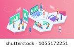 ultra hd resolution technology...   Shutterstock .eps vector #1055172251
