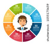 round color infografic with man ...   Shutterstock .eps vector #1055175659