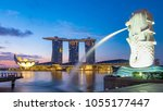 singapore   21 oct 2017  the... | Shutterstock . vector #1055177447