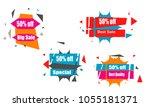 modern colorful polygonal...   Shutterstock .eps vector #1055181371