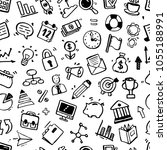 hand drawn business seamless... | Shutterstock .eps vector #1055188991