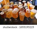 assorted craft beer varieties | Shutterstock . vector #1055195225