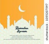 ramadan kareem greeting banner... | Shutterstock .eps vector #1055207597