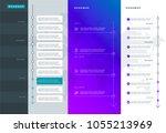 roadmap set. lines  arrows ... | Shutterstock .eps vector #1055213969