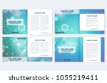 scientific templates square... | Shutterstock .eps vector #1055219411