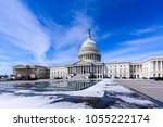 panoramic view of us capitol... | Shutterstock . vector #1055222174
