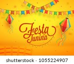 festa junina  holiday... | Shutterstock .eps vector #1055224907
