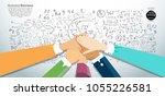 team work . business people... | Shutterstock .eps vector #1055226581