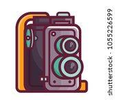 vintage twin lens reflex camera ... | Shutterstock .eps vector #1055226599