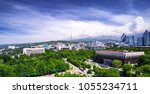 panoramic view of almaty city... | Shutterstock . vector #1055234711
