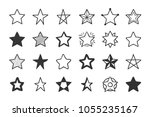 set of 24 hand drawn stars on... | Shutterstock .eps vector #1055235167