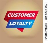 customer loyalty arrow tag sign. | Shutterstock .eps vector #1055236157