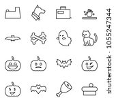 flat vector icon set   potty... | Shutterstock .eps vector #1055247344
