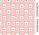 seamless pattern  bear art ...   Shutterstock .eps vector #1055248274