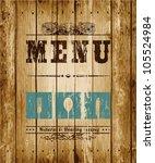 decorative menu card. vector...   Shutterstock .eps vector #105524984