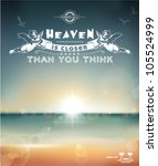 heaven is closer than you think ... | Shutterstock .eps vector #105524999