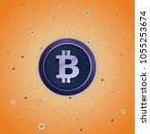 bitcoin spider web | Shutterstock .eps vector #1055253674