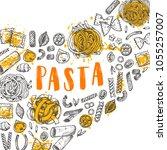 pasta card concept design....   Shutterstock .eps vector #1055257007