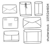 vector set of envelope | Shutterstock .eps vector #1055264834