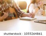 musician songwriter working...   Shutterstock . vector #1055264861