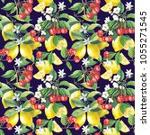 seamless watercolor... | Shutterstock . vector #1055271545