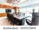 meeting room in modern style... | Shutterstock . vector #1055273849