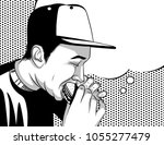 black and white vector poster...   Shutterstock .eps vector #1055277479