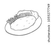 vector of fish and chips | Shutterstock .eps vector #1055277749