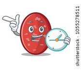 with clock salami character...   Shutterstock .eps vector #1055278511