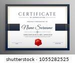 clean modern certificate... | Shutterstock .eps vector #1055282525