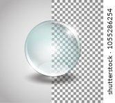 glass sphere. isolated vector... | Shutterstock .eps vector #1055286254