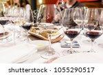 wine tasting in the restaurant | Shutterstock . vector #1055290517