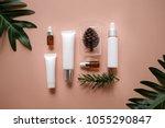 natural cosmetic cream   serum  ... | Shutterstock . vector #1055290847