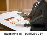 business invest accessory on... | Shutterstock . vector #1055291219