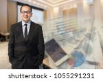 happy professional asia... | Shutterstock . vector #1055291231